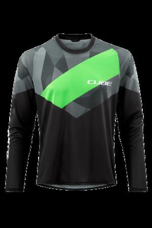 Cube dres EDGE dlouhý rukáv black/green