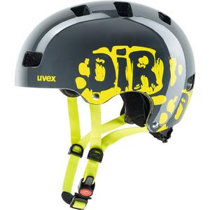 Uvex helma KID 3 dirtbike grey-lime