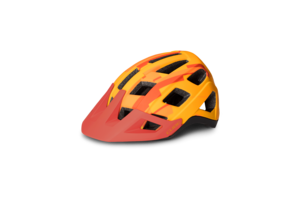 Cube helma BADGER orange camo