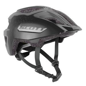 Scott dětská cyklistická helma SPUNTO JUNIOR PLUS black/reflective
