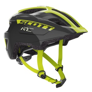 Scott dětská cyklistická helma SPUNTO JUNIOR black/radium yellow RC