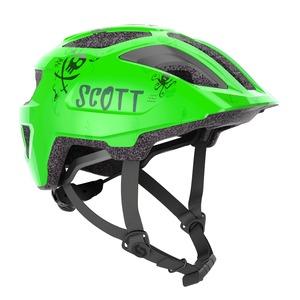 Scott dětská cyklistická helma SPUNTO KID fluo green