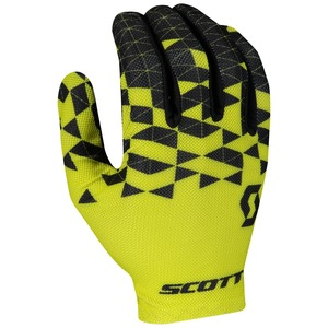 Scott cyklistické rukavice RC TEAM LF sulphur yellow/black