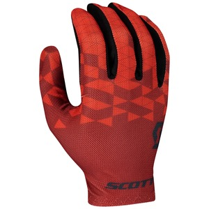 Scott cyklistické rukavice RC TEAM LF fiery red/dark grey