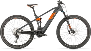 Cube horské elektrokolo STEREO HYBRID 120 RACE grey orange