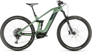 Cube horské elektrokolo STEREO HYBRID 140 HPC RACE green sharpgreen