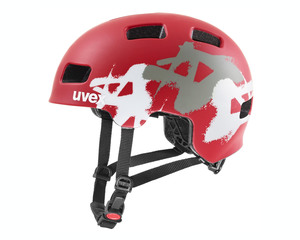 Uvex helma HLMT 4 CC red mat graffiti