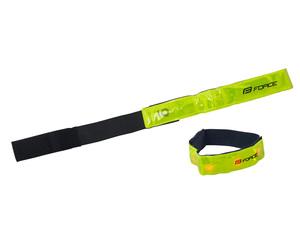Force pásek reflexní s LED diodami 42 cm, žlutý