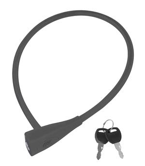 Force zámek silikonový bez držáku 65cm/10mm, šedý