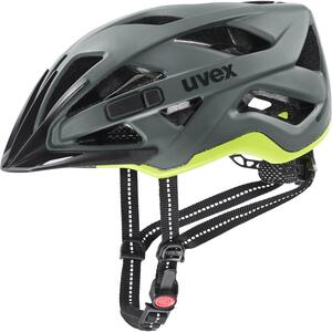 Uvex helma CITY ACTIVE anthrazit - lime mat