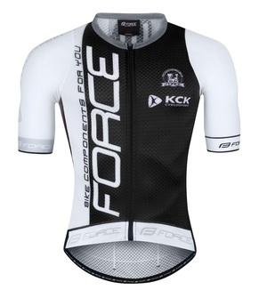 Force dres TEAM PRO PLUS, krátký rukáv, černo-šedý
