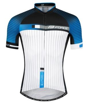 Force dres DASH krátký rukáv, modro-černo-bílý