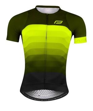 Force dres ASCENT krátký rukáv, zeleno-fluo