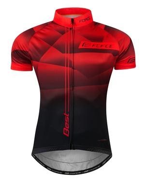 Force dres BEST krátký rukáv, červeno-černý