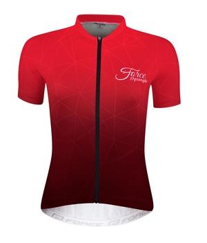 Force dres dámský SPRANGLE krátký rukáv, červený