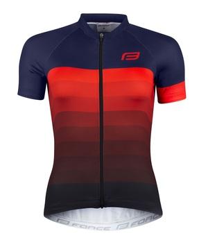 Force dres dámský ASCENT krátký rukáv, modro-červený