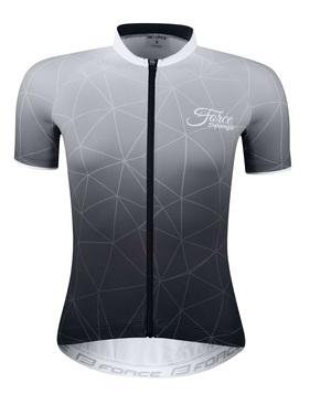 Force dres dámský SPRANGLE krátký rukáv, černo-bílý