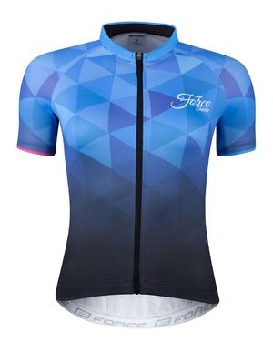 Force dres dámský GEM krátký rukáv, modrý