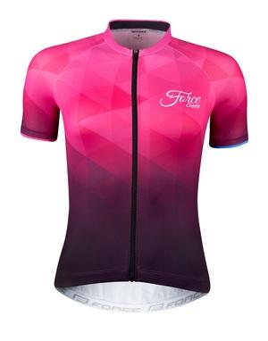 Force dres dámský GEM krátký rukáv, růžový