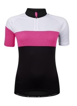 Force dres VIEW LADY, černo-bílo-růžový