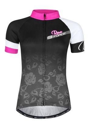Force dres ROSE dámský kr. rukáv, černo-růžový