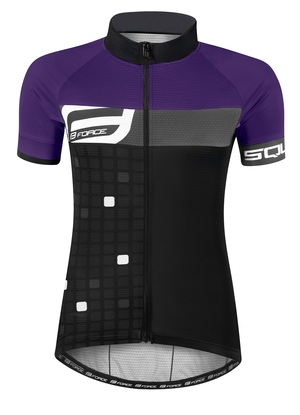 Force dres dámský SQUARE krátký rukáv, černo-fialový