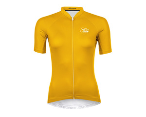Force dres dámský PURE LADY krátký rukáv, žlutý