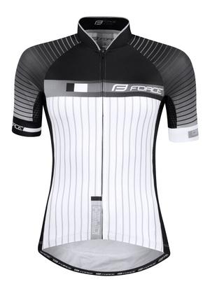 Force dres DASH LADY, krátký rukáv, černo-bílý