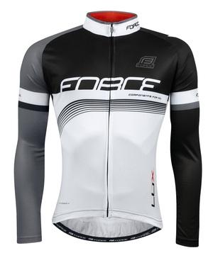 Force dres LUX dlouhý rukáv,černo-bílý