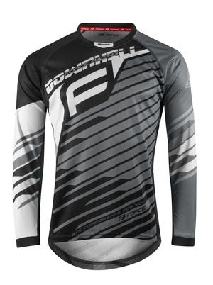 Force dres DOWNHILL, dlouhý rukáv, černo-bílo-šedý