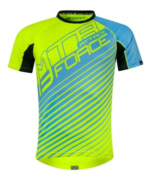 Force dres MTB ATTACK, fluo-modrý
