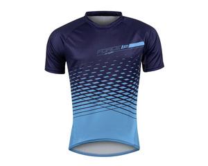 Force dres MTB ANGLE krátký rukáv, modrý