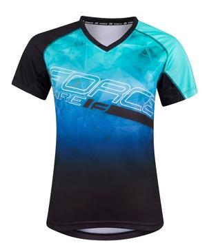 Force dres MTB CORE dámský, tyrkysovo-modrý