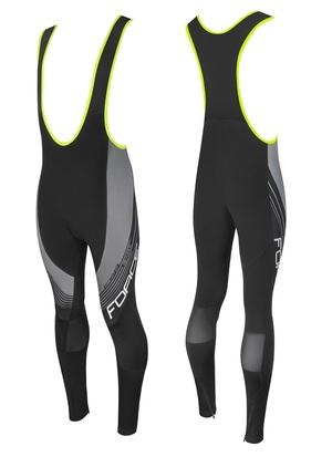 Force kalhoty F58 se šráky bez vložky, černo-šedé