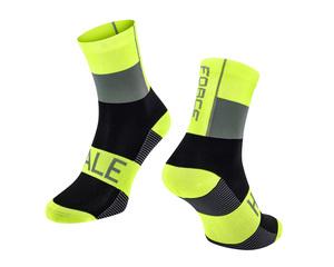 Force ponožky HALE fluo-černo-šedé