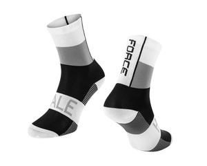 Force ponožky HALE bílo-šedo-černé