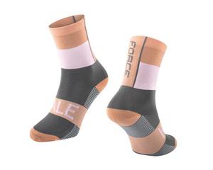 Force ponožky HALE oranžovo-bílo-šedé