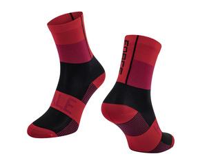 Force ponožky HALE červeno-černé