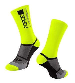 Force ponožky STAGE, fluo-černé