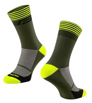 Force ponožky STREAK, zeleno-fluo