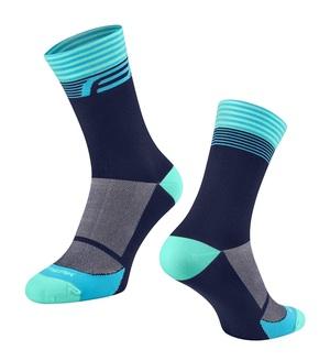 Force ponožky STREAK, modro-tyrkysové