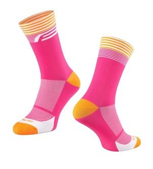 Force ponožky STREAK, růžovo-oranžové