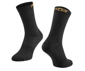 Force ponožky ELEGANT vysoké, černo-zlaté