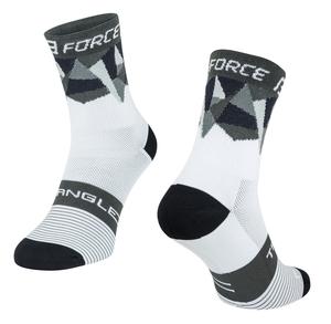 Force ponožky TRIANGLE bílo-šedo-černé