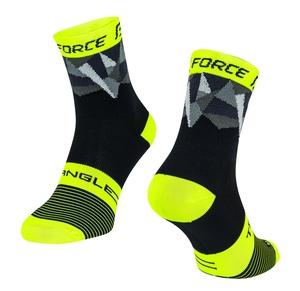 Force ponožky TRIANGLE černo-fluo-šedé