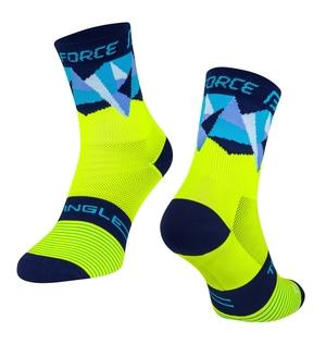 Force ponožky TRIANGLE fluo-modré