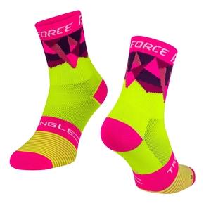 Force ponožky TRIANGLE fluo-růžové