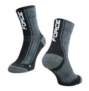 Force ponožky FREEZE šedo-černo-bílé