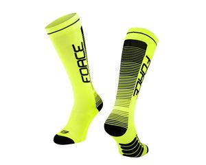 Force ponožky COMPRESS, fluo-černé