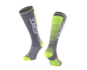 Force ponožky COMPRESS, šedo-fluo